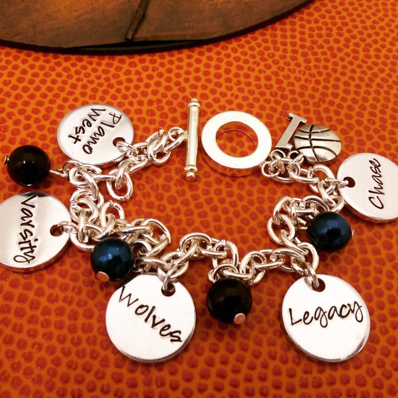 Basketball Charm Bracelet: Basketball Bracelet Basketball Charm Bracelet Basketball
