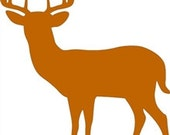 10 PT BUCK Unfinished Wooden Craft Shape, Do-It-Yourself