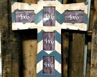 CROSS Picture Frame, Finished, Chevron, MDF
