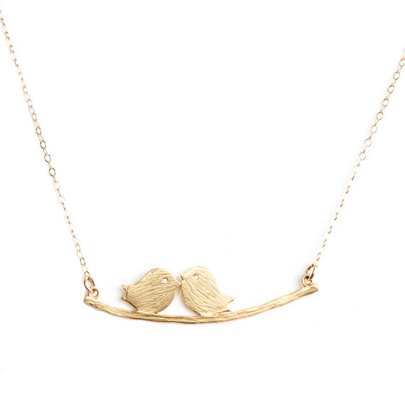 Gold Love Bird Necklace