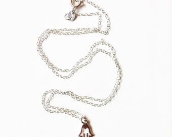 Silver Fatima's Hand Charm Necklace
