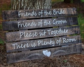 Ceremony Sign - Wedding Signs - Choose a seat not a side sign - Pick a seat not a side sign - Wedding Ceremony Sign - Painted Ceremony Sign