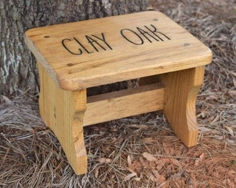 Personalized Kids Stepping Stool - Rustic Decor - Childrenu0027s Step Stool - Bathroom Stool - Wood : wooden childrens step stool - islam-shia.org