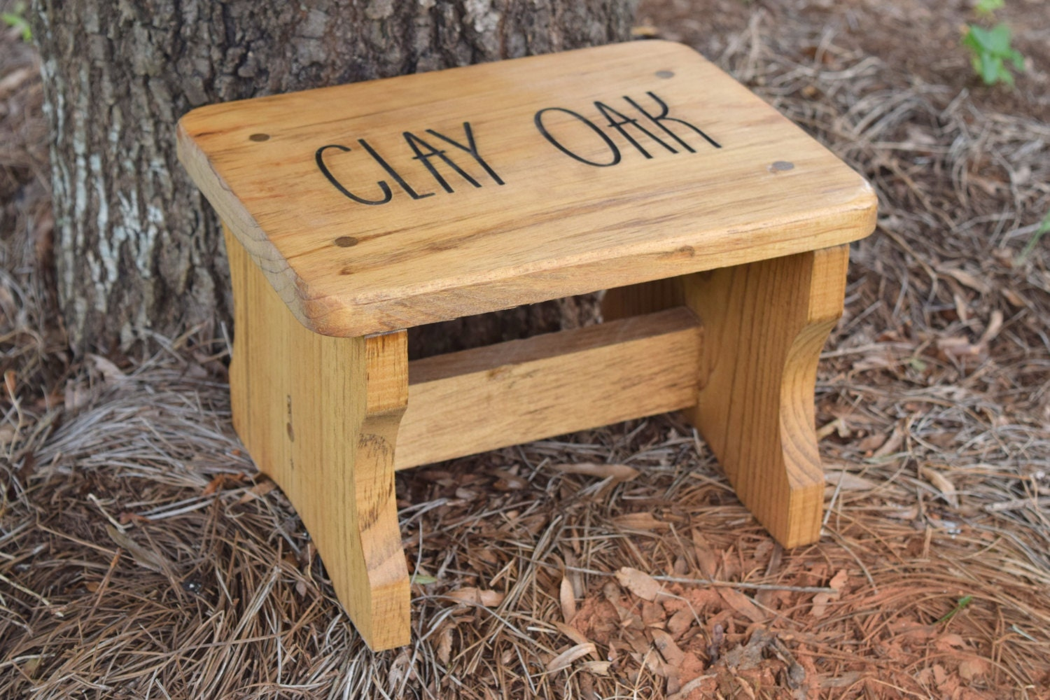 Personalized kids stepping stool rustic decor