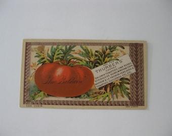 Victorian Trade Card - Thurbers - Good Quality - Honest Quantity