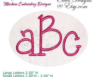 Alphabet Ver 30 Machine Embroidery Alphabet Monogram Font BX Format Digital Download