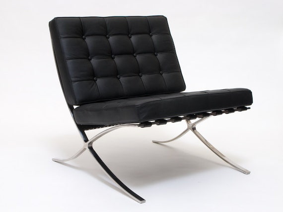 Iconic barcelona chair mid century modern 1929 for Iconic modern chairs