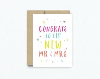 Bright Fun Wedding Card. Blank Congratulations Card. Card for Wedding Couple. Card for Wedding. Congratulations Card. # 247