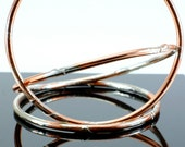 Copper and Silver Jangly Bangles - Buy Two Get One FREE!