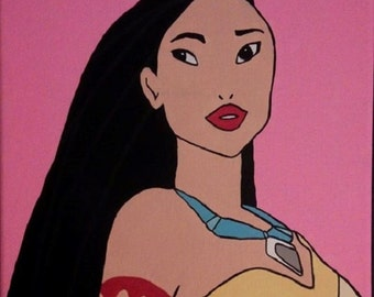 Princess Pocahontas hand painted