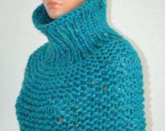 Knitted Cowl/ Korean Fashion Cowl/ High Fashion Winter Neckwarmer