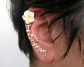 Flower Ear Cuff, Cartilage Ear Cuff, No Pierce Jewelry, Ear Vine, Bridal Jewelry, Bridesmaids Jewelry, SBD