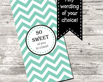 19 Color Choices Chevron Mini Candy Wrapper Printable Digital
