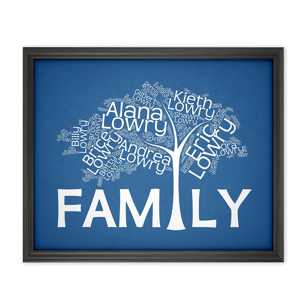 Wedding Gift Ideas Blended Family : Blended Family Tree Wedding Gifts for Blended by KinAndCaboodle