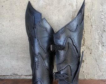 Leather Bracers - Warrior Dark Elf Armor  - Pair