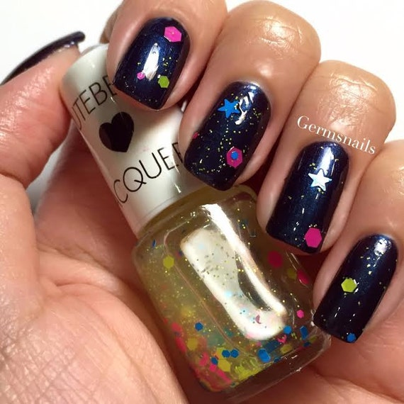 Nail Polish NeoTokyo Neon Glitter Top Coat By