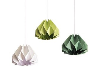 Pumpkin / Origami Paper Lamp Shade - Color Choices