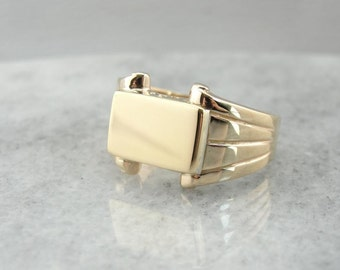 Vintage Yellow Gold Signet Ring D1HH2F-D