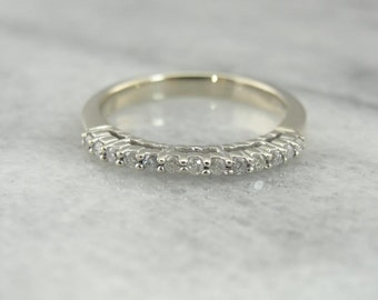 Tall Prong Set Diamond Inlaid Band For Stacking Or Wedding Ring 5F0PL2-N