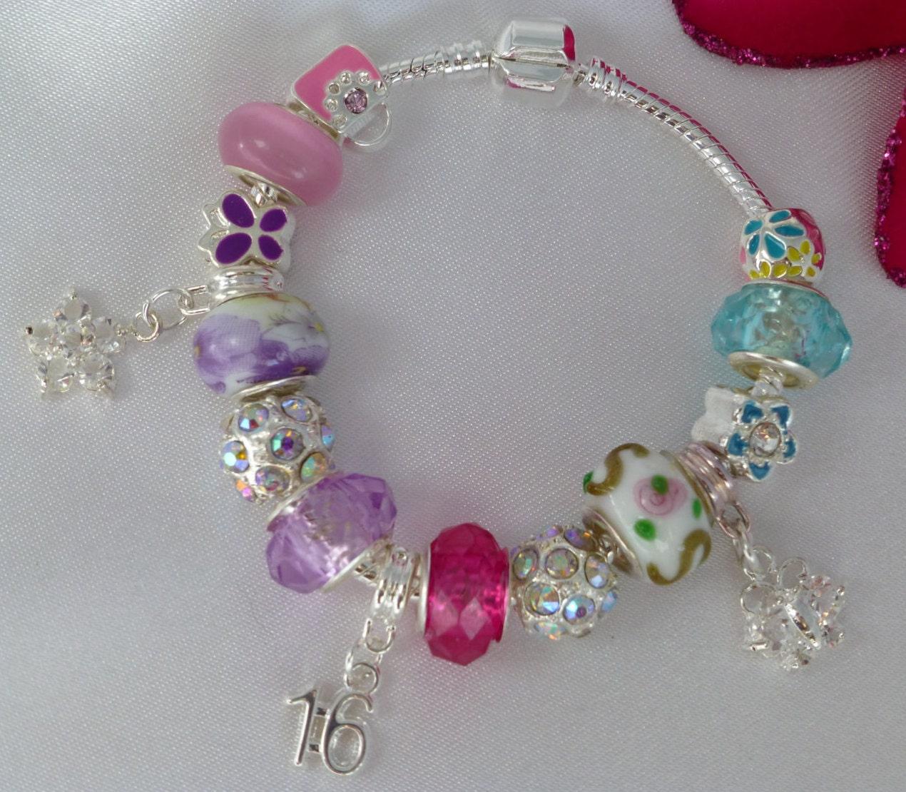 18th Birthday Heart Initial Bracelet 18th Birthday Jewelry: Charm Bracelet 16th Birthday 18th Or 21st Charm In By