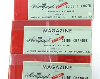 "Vintage Airequipt Magazine for Automatic Slide Changer USA 2"" x 2"" Slides"