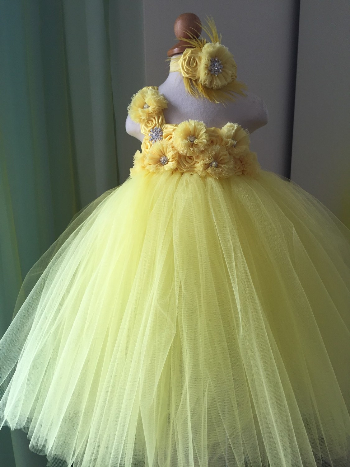 Yellow Flower Girl Dress yellow dress Tulle Dress by LureCouture