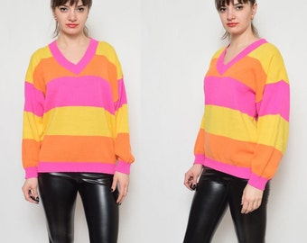 Vintage 80's Color Block Sweater