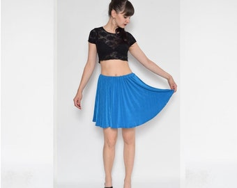 Vintage 90's  Full Circle Turquoise Skirt