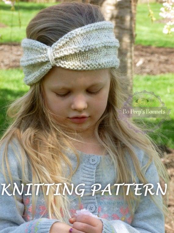 KNITTING PATTERN Turban Headband Knit Turban by BoPeepsBonnets