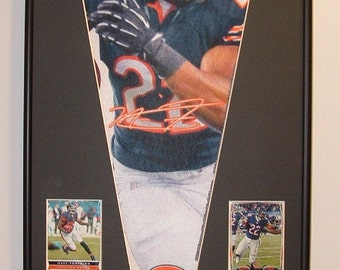Chicago Bears Matt Forte Pennant & Cards...Custom Framed!!!