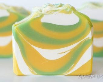 Lush Lemon Soap, Handmade Soap, Vegan Soap, Coconut Milk, Cold Process, Shea butter, Lemon Verbena 5.2 oz.