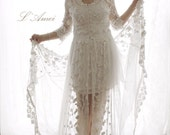 Romantic Flower Alice in the Garden Lace Wedding Dress. Perfect for Beach Woodland and Boho Wedding. Design by L'Amei AM19836380