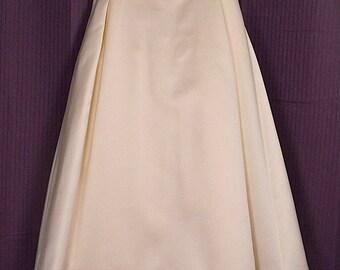 Flower Girl Ivory & Gold Spaghetti Strap Dress Vera Wang Wedding Recital Easter Dress Sz 6
