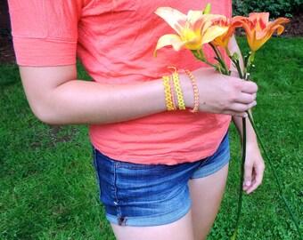 Friendship Bracelet Set - Summer Theme - Handmade