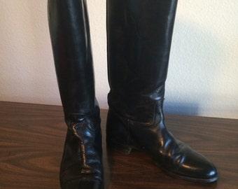 Vintage Black Riding Boots