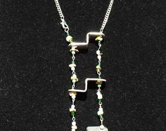 Green Industrial Ladder Necklace