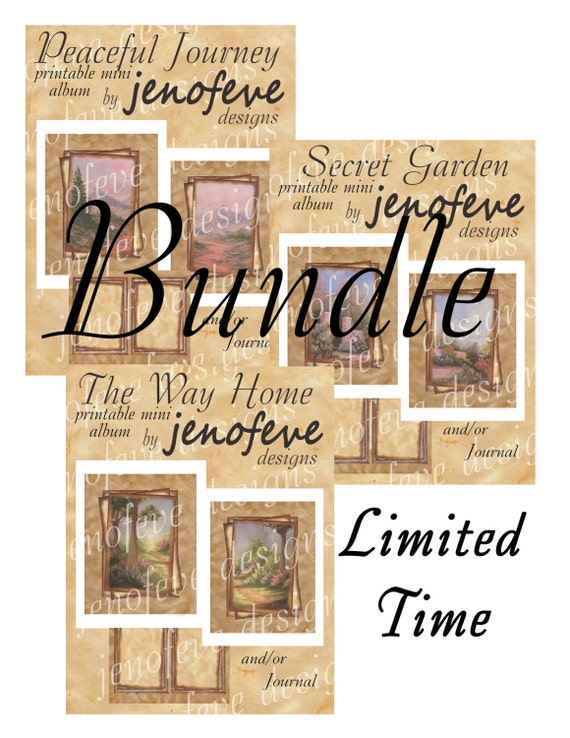 "Bundle 3 ""Printable"" Vintage Mini Albums"