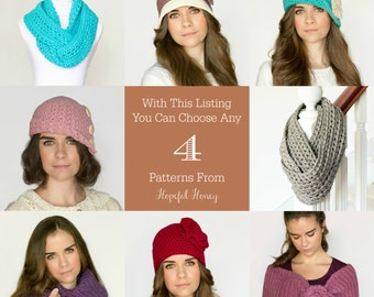 You Choose Any 4 Crochet Patterns