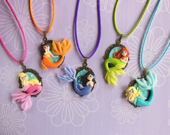 Little Mermaid Cameo Necklace Collection