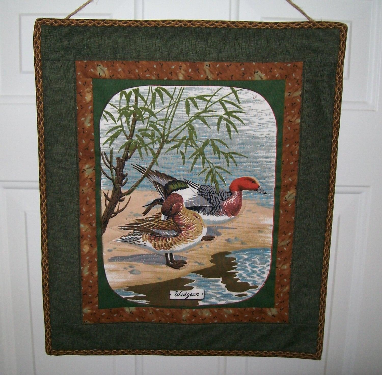 Duck wall hanging nautical bird door quilt widgeon by the for Front door quilt pattern