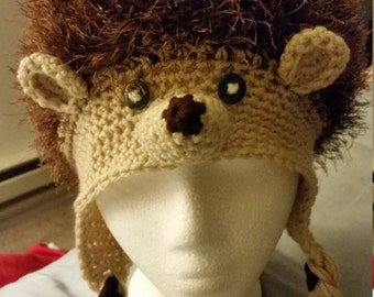 Crochet Hedgehog Hat