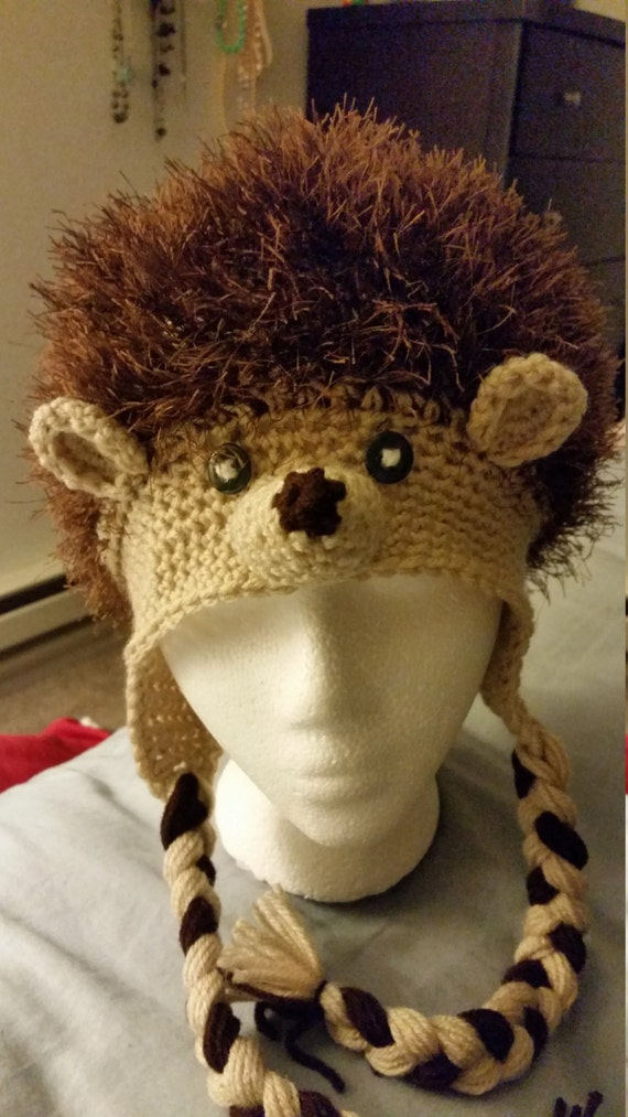 Crochet Hedgehog Hat