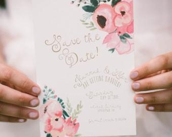 Pink Italian Bellini Wedding Invitation Suite \\\ As Seen in Trendy Bride \\\ DIY Wedding Invites \\\ Printable Wedding Invitations