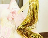25 Glittery Tinsel Wedding Ribbon Wands with bell, send off, down the aisle, Whimsical Wedding Decoration