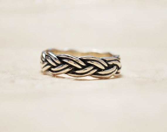 unique promise ring braided silver ring unique anniversary
