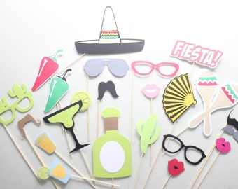 22pc *Fiesta Photobooth Props/Fiesta Party/Photobooth Props