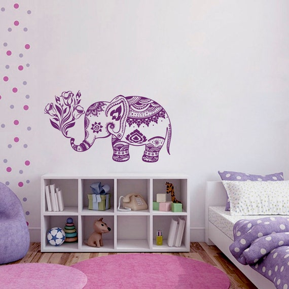 Elephant Wall Decals Mandala Decal Bohemian Bedding by ...