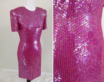 Pink Sequin Party Dress - Size 6