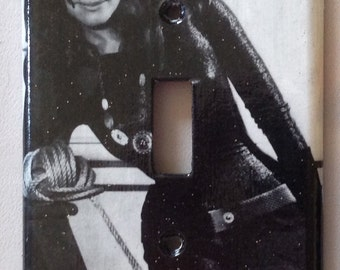 Julie Newmar as Catwoman: light switch cover plate