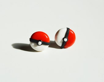 Pokemon Pokeball Stud Earrings